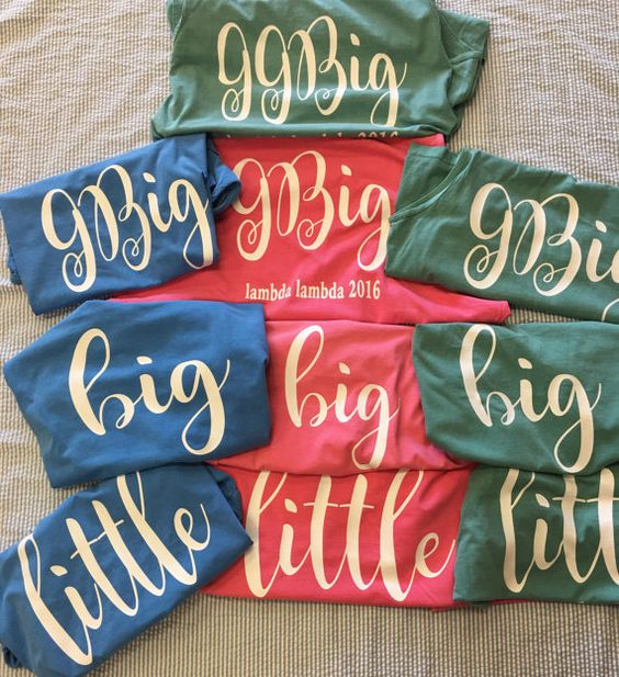 Comfort Colors Big/Little Shirt by BeccasSouthernGrams on Etsy