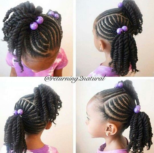Marvelous Kid Hairstyles Kid Styles And Twists On Pinterest Hairstyle Inspiration Daily Dogsangcom
