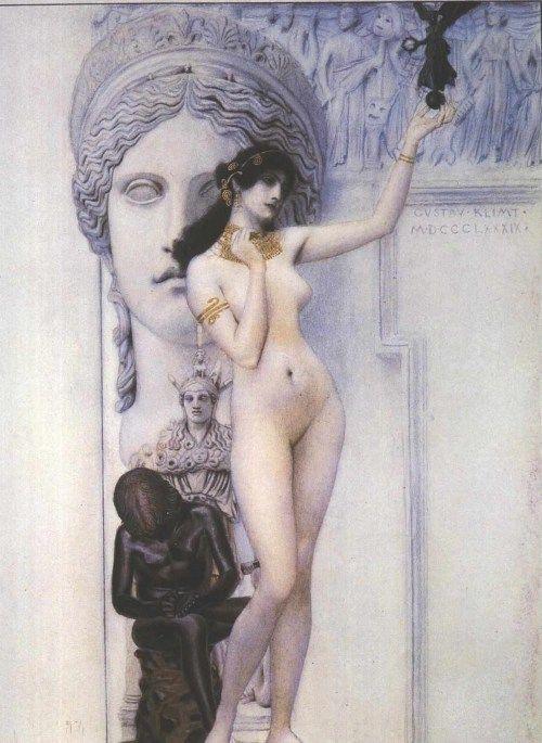 ALLEGORIA SULLA SCULTURA,  Gustav Klimt, 1889.