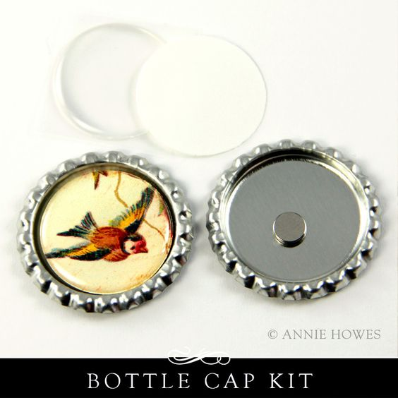 Bottle Cap Magnet Kit with Glamour Dots Epoxy Stickers – Annie Howes