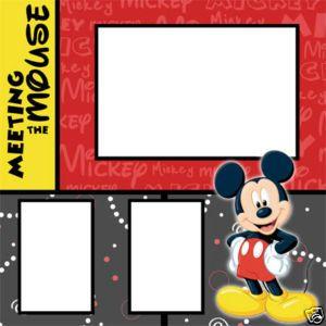 Disney World scrapbook idea