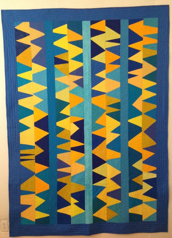 "Wendy Hook 2015 50""x 75"" ""Static"" hand dyed cotton"