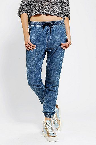 Neon Blonde Destroyer Slouchy Denim Pant