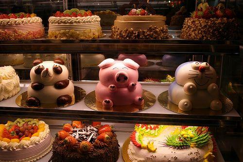 cute animal cakes!