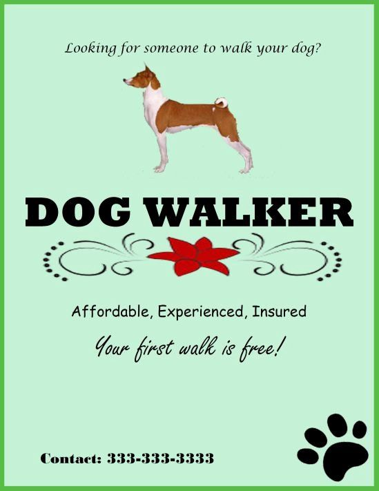 Free Dog Walking Flyer Template from i.pinimg.com