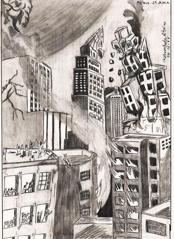 Grafite sobre papel. Tema Apocalipse para os que creem.