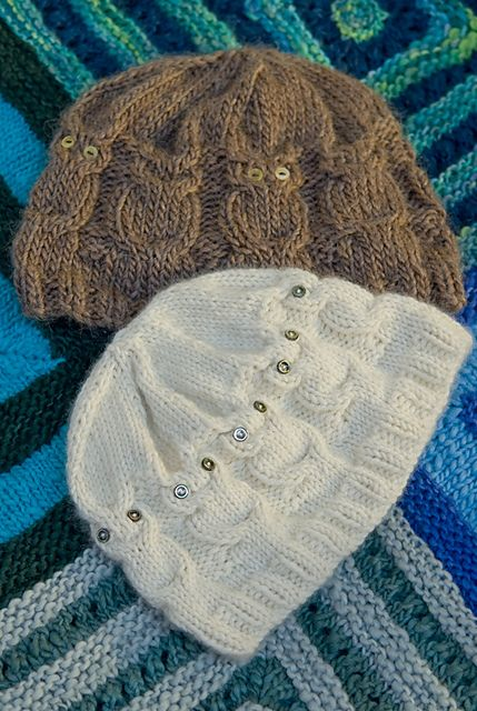 Free Crochet Cable Owl Hat Pattern : Owl hat, Owl and Ravelry on Pinterest