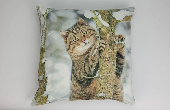 Capa de Almofada Gato na Árvore 50 x 50 cm | A Loja do Gato Preto | #alojadogatopreto | #shoponline | referência 26866404