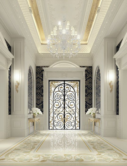 موديلات و اشكال ابواب حديد جذابة للمنازل ديكورموز Lobby Interior Design Luxury Interior Design Interior Design Dubai