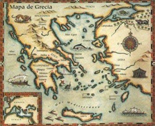 Resultado De Imagem Para Mapa Grecia Antiga Ulisses Em 2020
