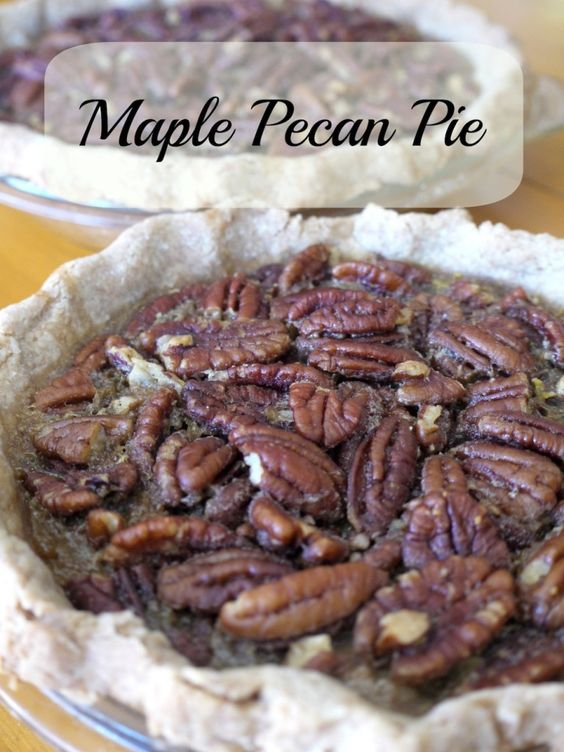 flour syrup thanksgiving maple pecan pie almonds crusts maple syrup ...