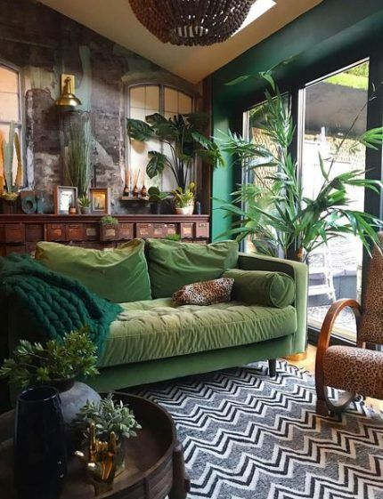 49 Ideas Living Room Green Gold Wood For 2019 Living Room Green Eclectic Living Room Living Room Decor