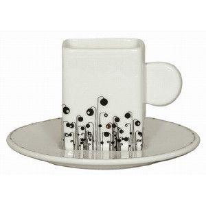 Loveramics Red in Black Espresso Cup & Saucer