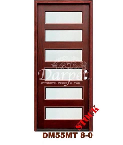 DM55MT6 6 Lite Contemporary Mist Glass Exterior Wood Mahogany Door 8-0 | Darpet Interior Doors for Chicago Builders ://darpet.com/products-cata\u2026
