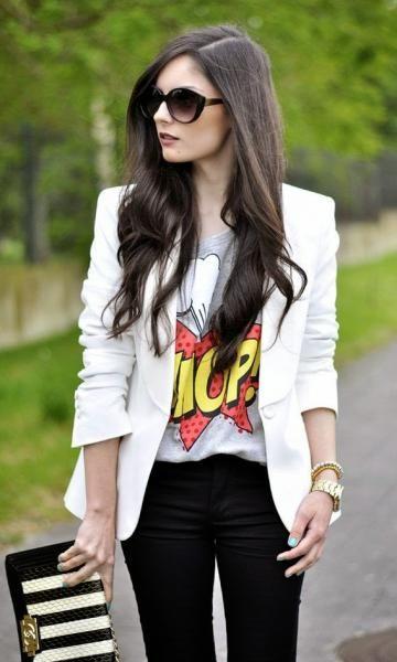 Look: Blazer & T-shirt