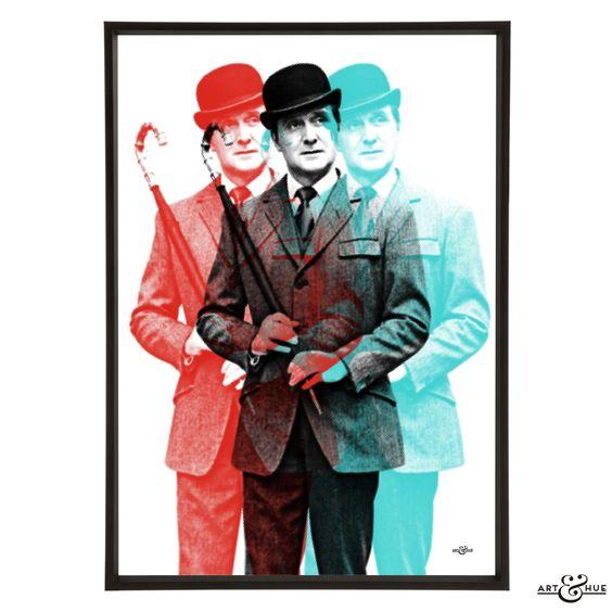 Triple #JohnSteed - #TheAvengers #PopArt http://artandhue.com/shop/triple-steed/
