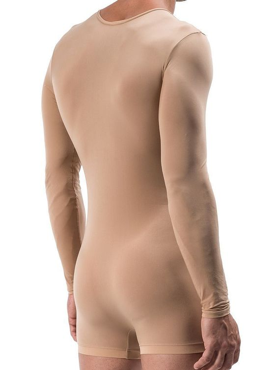 """Manstore Long Body M557 Underwear Nude One Piece Long Sleeve With Zipper Mens in Kleidung & Accessoires, Herrenmode, Unterwäsche  Und beim Gang auf das WC, muß """"Mann"""" sich complett oben rum ausziehen. Wie Dämlich ist das den"""
