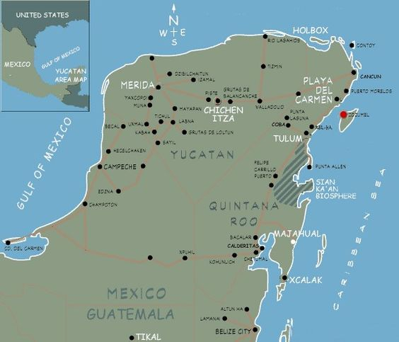 Map Of Mexico – East Mexico Map