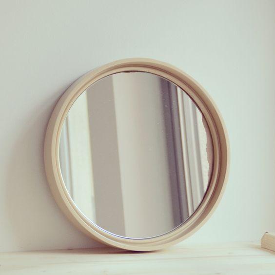 Vintage Spiegel - Vintage runder Spiegel - ein Designerstück von LeFlair bei DaWanda