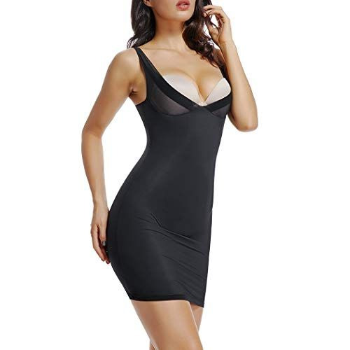 Full Slips for Under Dresses Women Tummy Control Shapewear Slip Seamless Slimming Body Shaper Slip