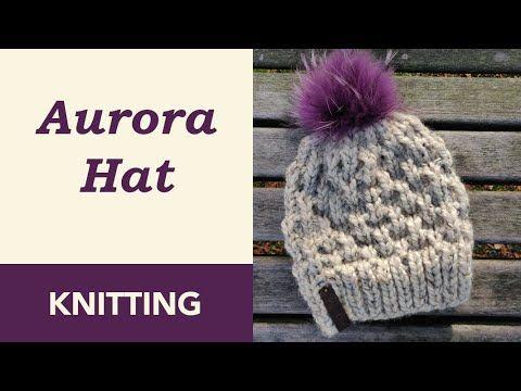 Aurora Knit Hat Pattern Crazy Hands Knitting Knitting Patterns Free Hats Beanie Knitting Patterns Free Beginner Knitting Patterns