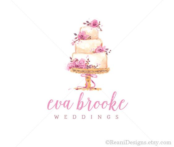 Cake Logo Design Psd : Logo design, Watercolor logo and Business branding on ...