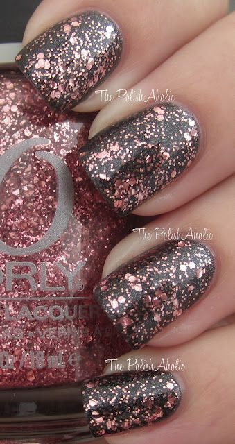 Orly- You are not alone #nails Brilliant, I would have never thought of a standout bright glitter on black.