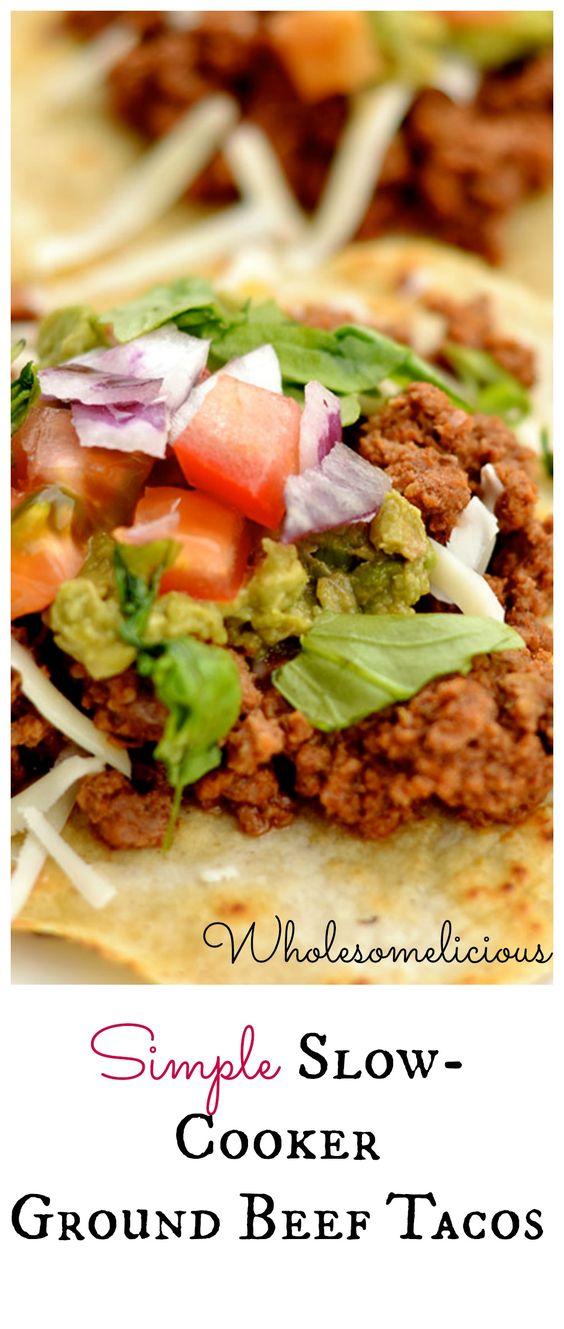 Slow-Cooker Ground Beef Tacos