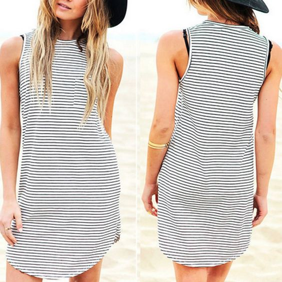 Garden of Stripes dress