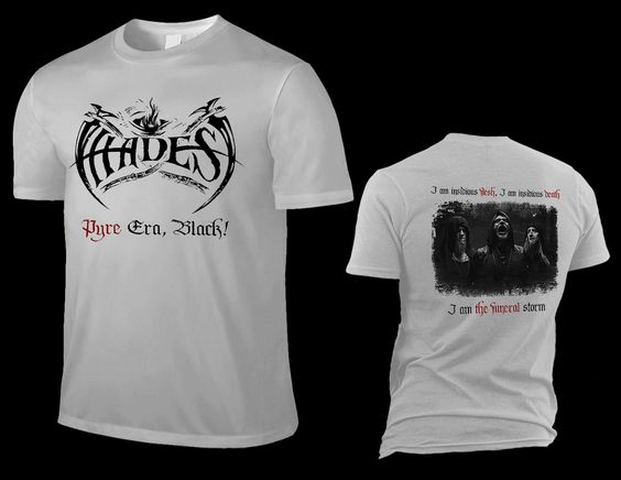"HADES ALMIGHTY ""pyre era, black!"", silver grey T-Shirt"