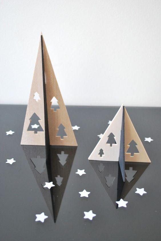 Sapin pyramide objet d coratif design minimaliste - Sapin de noel noir et blanc ...