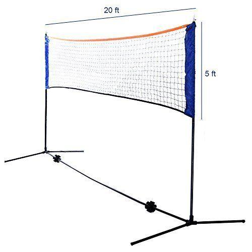 Volleyball Badminton Set Includes 20 Foot Net Badminton