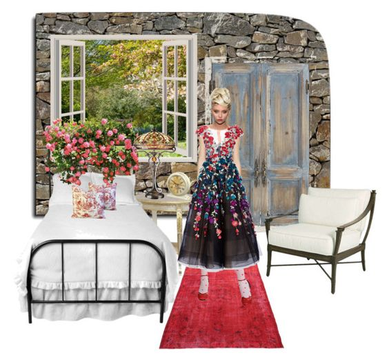 """Staying at the chateau in the Lorre Valley...by tt"" by fowlerteetee on Polyvore featuring Brewster Home Fashions, Pier 1 Imports, AFK, Marchesa, Dale Tiffany and Improvements"