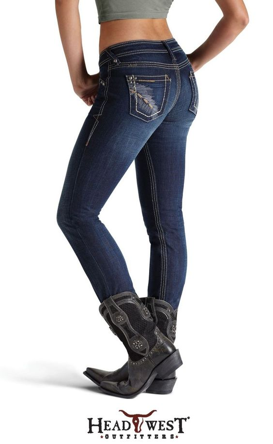 Ariat Women's Midnight Galaxy Skinny Jeans with Cowgirl Boots