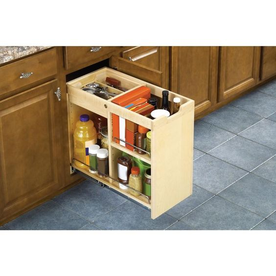 Organize Your Base Cabinets While Leaving The Drawer Above