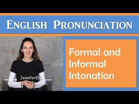 Learn Intonation Patterns In English With Jennifer Youtube Academic Vocabulary Language Study Pronunciation