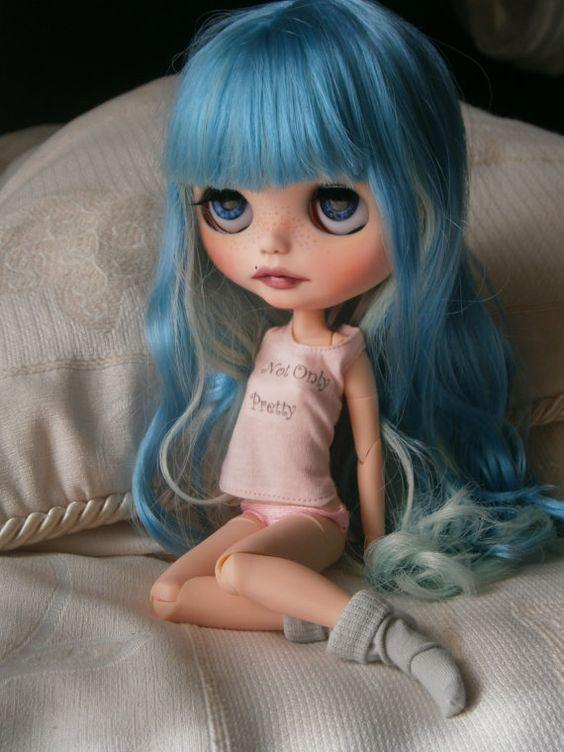 Reserve ooak custom blythe doll Mandy Cotton Candy RBL by Gerakina