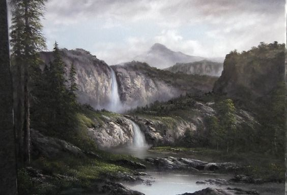 Paint with Kevin Hill - Misty Falls