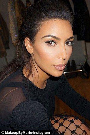Brow raising: The reality star's natural brows match her dark brunette locks
