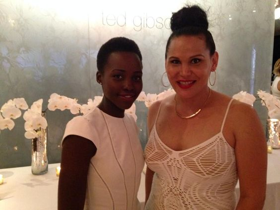 Lupita at Friend Ted Gibson's wedding