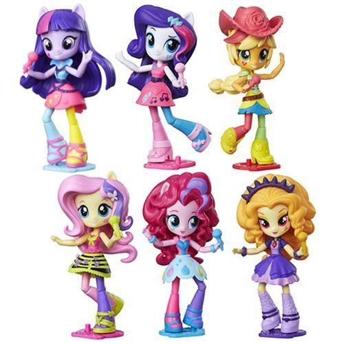 My Little Pony Equestria Girls Rainbow 9 pcs Figure Set Doll Play Set Toy Gift