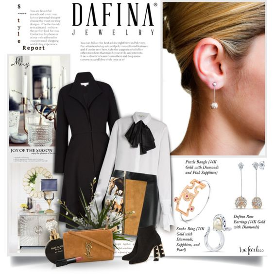 A fashion look from October 2016 by thewondersoffashion featuring Isa Arfen, FAUSTO PUGLISI, Dolce&Gabbana, Yves Saint Laurent, NARS Cosmetics, River Island e K...