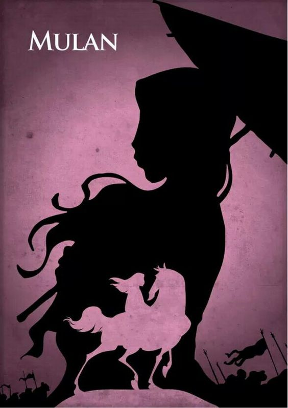 Minimalistic Disney Posters - Mulan