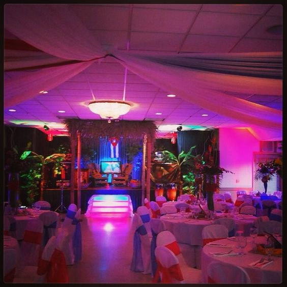 Havana nights guayabera party staging miami outboard club for Miami vice pool design