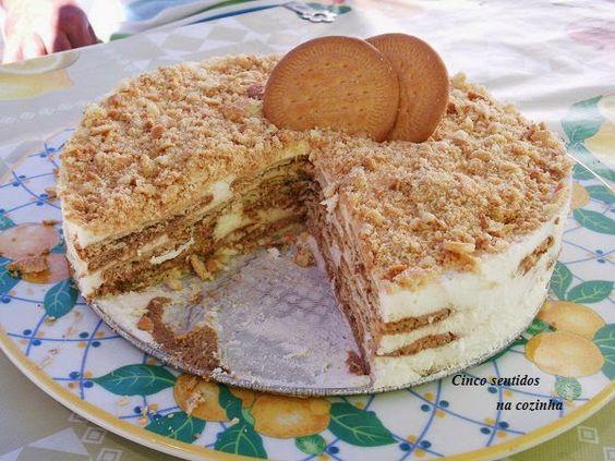 Cinco sentidos na cozinha: Bolo de bolacha com nata