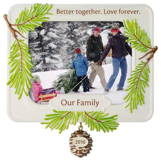 Better Together Family Photo Holder Ornament