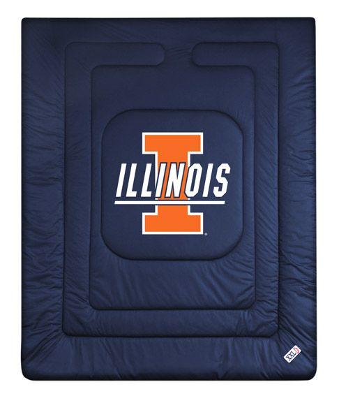 ATHLEZ - Illinois Fighting Illini Locker Room Comforter Full/Queen