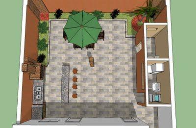 decoração sem mistério: Meus projetos em sketch up - Áreas de Lazer e Varandas