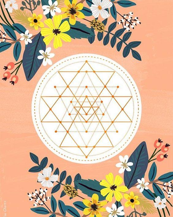 Sacred #geometry available at @society6 ✨✨ #illustration #yoga #meditation #positivemind #colorful #art #artoftheday #instaart #walldecor #miacharro