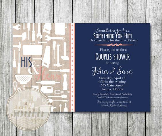 His and Her Wedding Shower Invitation Custom Couples Shower – His and Her Wedding Shower Invitations